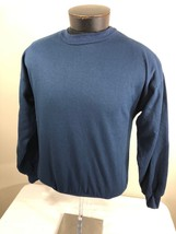 Vintage Sweatshirt 100% Acrylic Crew Neck Made USA Small Navy 70s Back Seam - $29.99