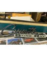GM 1963-65 Corvette Script Stingray Rear Emblem 3797414 NOS - $79.19
