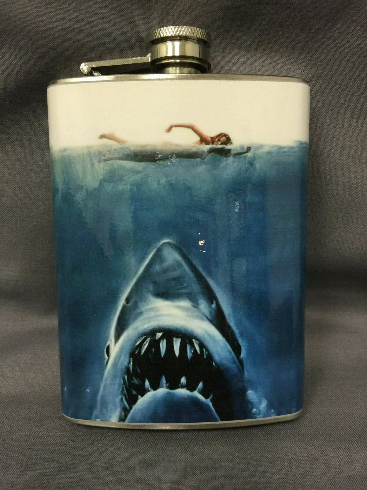 Shark Attack Jaws Flask 8oz Stainless Steel Drinking Clearance item