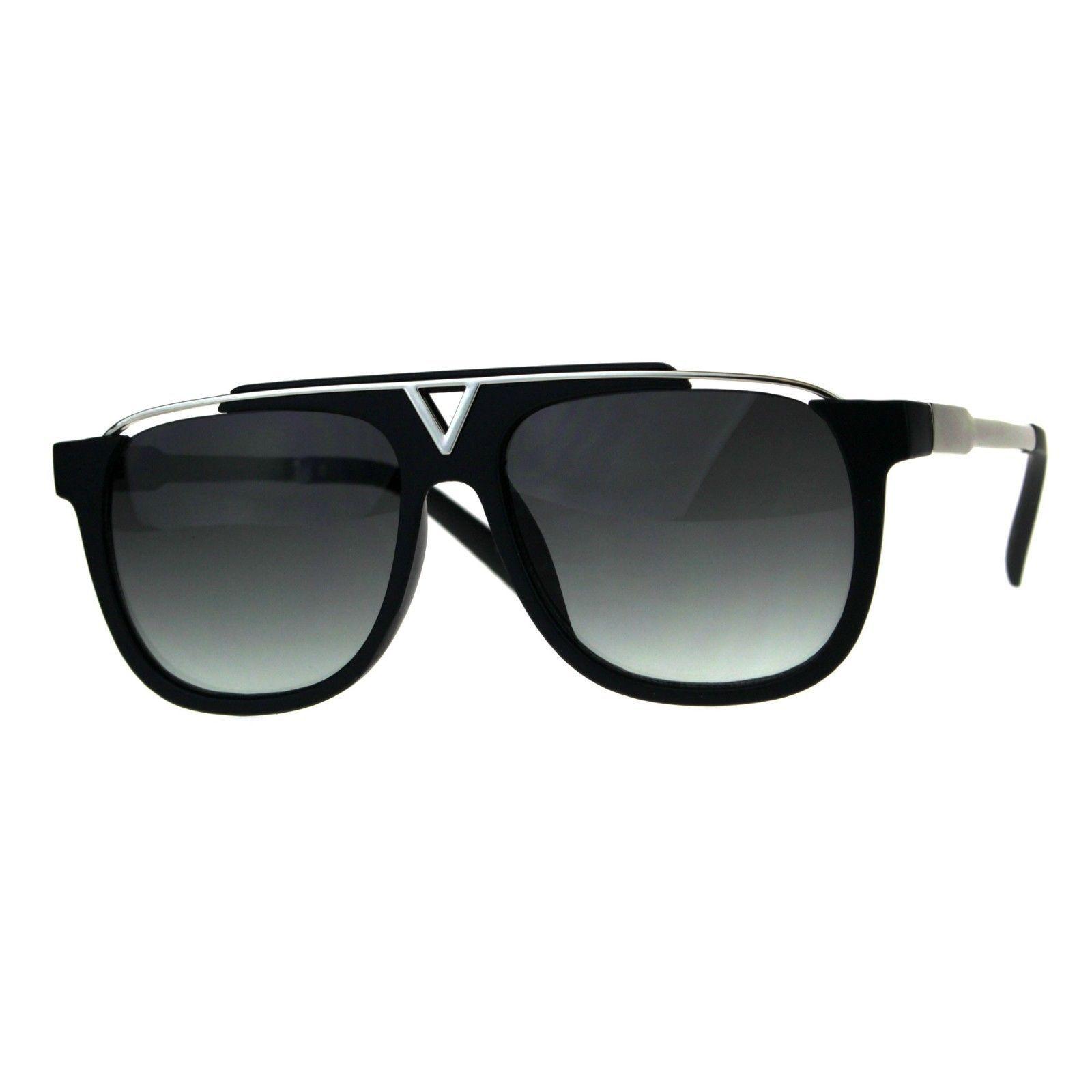 Retro Modern Sunglasses Unisex Fashion Del Metal Top Square Frame UV 400