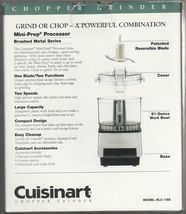Cuisinart DLC-1SS Mini-Prep Processor Brushed Stainless Steel NEW IN SEALED BOX image 4