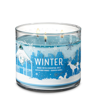 ☆☆WINTER☆ BATH & BODY WORKS 3 WICK CANDLE JAR☆ FREE SHIPPING WINTER SCENT - $22.76