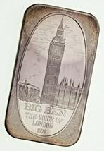 Vintage Big Ben 1974 1 Oz. Silber Kunst Barren Von U.S.Silber Corporation - $54.45