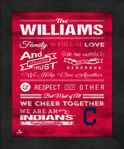 "Personalized Cleveland Indians ""Family Cheer"" 13 x 16 Framed Print - $39.95"