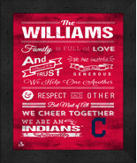 """Personalized Cleveland Indians """"Family Cheer"""" 13 x 16 Framed Print - $39.95"""