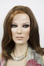 Nat Golden Brown & Med Red Gold Blond Highlt & Tip Medium Lace Front Wigs - $301.59