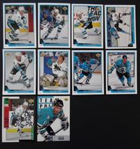 1993-94 Upper Deck Series 1 San Jose Sharks Team Set 10 Hockey Cards No #72 - $3.50