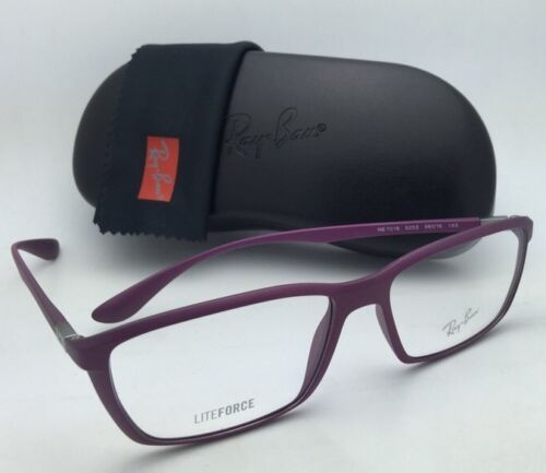 New RAY-BAN Eyeglasses LITEFORCE RB 7018 5253 56-16 Matte Purple Cyclamin Frames