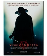"V For Vendetta Movie Poster 24x36"" - Frame Ready - USA Shipped - $17.09"