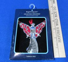 Sister Angel Ornament Fine European Crystal Regent Square Red Enamel - $9.89