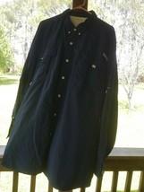 Men's fishing shirt size 2XL by Columbia dark blue omni shade nylon - $39.95