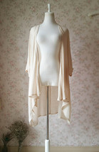 Summer Tencel Linen Open Blouse Loose Long Crop Sleeve Cover Up Plus Size NWT image 3