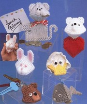 Squeezies Kissies Whale Bear Bunny Plastic Canvas Pattern 30 Days To Sho... - $1.77