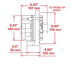 Chrome SB Ford 1G Style 110 AMP 1 Wire Alternator Mustang 289 302 351 V8 10SI V image 10