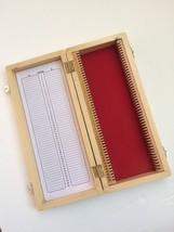 New Wooden Microscope Box 50 Slides Prepared Slide Storage Case - $20.56