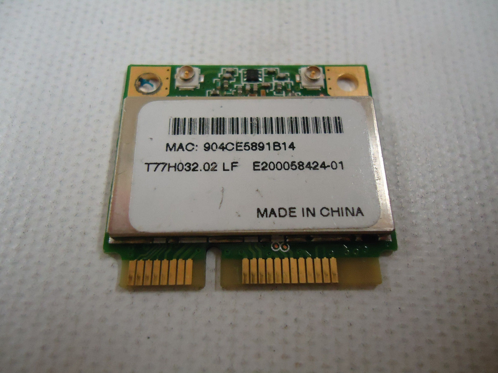 Acer T77H032.02 AR5BHB63 Aspire One 751H Wifi Mini PCI-E 802.11ABG Wireless Card