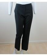Louis Vuitton Womens Black Pants Size EU 38 US 6 Wool Flat Front Slit Po... - $148.45