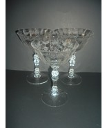 3 Fostoria Chintz Champagnes or Tall Sherbets or Goblets - $29.99
