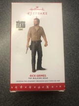 HALLMARK KEEPSAKE CHRISTMAS ORNAMENT * 2016 THE WALKING DEAD RICK GRIMES... - $18.61