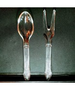 1 (One) IMPERIAL GLASS SERVING / SALAD FORK & SPOON SET - Excellent Cond... - $15.19