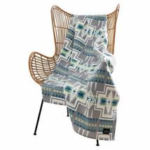 Pendleton Home Collection Grey Multicolor Aztec 50x70 Harding Luxe Throw Blanket - $44.90