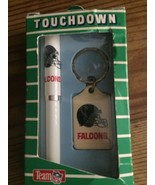 VINTAGE KEYCHAIN AND PEN SET FALCONS TOUCHDOWN PEN KEYCHAIN SET TEAM NFL - $19.80