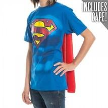 Dc Comics SUPERMAN Disfraz Cuerpo con Capa Superhéroe Adulto Hombre T Tee S-2XL - $20.03