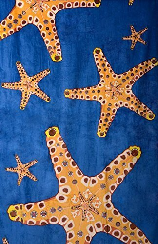 Sand Secured Outdoor Towel Set: One1 Starfish Design & One1 Palm Tree Design, 2  image 5