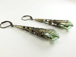 "Elegant Women""s 925 Silver Crystal Vintage Ear Stud Dangle Earrings Gift... - $2.30"