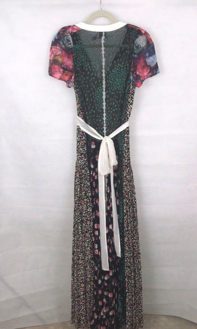 Anthropologie Sula Maxi Dress By Byron Lars Sz 4P - NWOT