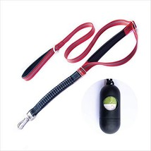Joansan 5 FT Heavy Duty Dog Leash with Two Comfort Handles and Dispenser, for Me