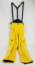 Adidas Yellow SnowBib Insulated Ski/ Snowboard Pants Size Small Entrant ... - $43.53