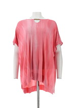 Lisa Rinna Collection Fashionable Chic Printed Top Neckline Pink PXL NEW... - $23.74