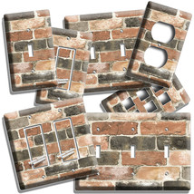 RUSTIC RECLAIMED WORN OUT BRICK WALL LIGHT SWITCH OUTLET PLAT ROOM HOME ... - $9.99+