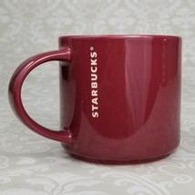 "Starbucks Coffee Mug Stackable 2013 Burgundy Maroon Red 14 oz 3.5"" Tall - $16.99"
