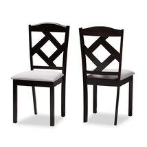Baxton Studio Verena Collection Dining Chairs in Grey/Espresso (Set of 2) - $70.63