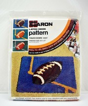 "Vintage New Old Stock Touchdown Football Latch Hook Canvas Pattern 20"" x 27"" - $28.45"