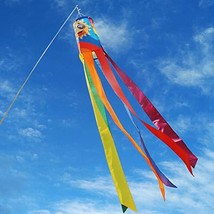 "QSUM Yard Decorations 61"" Rainbow Windsock with 6 Colors Long Tails,Gay Pride Ra - $20.49"
