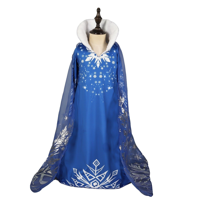 DH Halloween Snowflake Princess Elsa Anna Costume Girl/'s Fancy Dress 2-10 Years