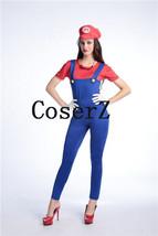 Adult Super Mario Costumes Women Luigi Plumber Cosplay Costume - $75.00