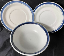 Royal Doulton Biscay LS 1007 Lambeth Stoneware England Cereal Bowl & 2 S... - $32.00
