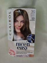 Clairol Nice N Easy Permanent Hair Colour Crème 5G M Gold Brown Box Damage - $9.28