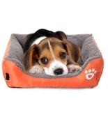 Giho Soft Washable Self-Warming Rectangular Dog Basket Bed With Fleece ... - $34.81