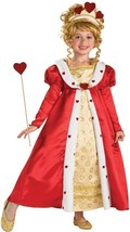 Royal Red Hearts Princess Complete Costume ~ Gown, Wand, Tiara, Rubies 8... - $26.99