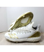 Adidas Boost Icon 4 White Gold Metal Baseball Cleats Shoes CM8476 Mens S... - $45.53