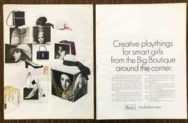 1969 Sears & Roebuck Big Boutique Women's Fashion Print Ad Creative Play... - $10.62