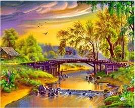 """Rural View 16X20"""" Paint By Number Kit DIY Acrylic Painting on Canvas Frameless - $8.99"""
