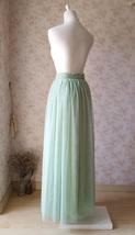 SAGE GREEN Women Tulle Maxi Skirt Sage Green Wedding Tulle Bridesmaid Skirt Maxi image 6