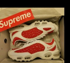 Nike x Supreme Air Max Tailwind 4 IV White Red Size 8.5 M SS19 - $237.59