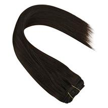 Sunny Brown Clip in Hair Extensions Human Hair 16 inch Double Weft Natural Hair  image 7